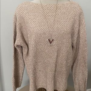 Thick knit cream Lord & Taylor long sweater